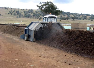 Turning a new compost row
